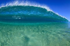 De golf van de zandbar Stock Fotografie
