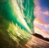 De Golf van de zonsondergang Stock Afbeeldingen