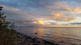 De golf van Finland Zeehaven van St. Petersburg Stock Afbeelding