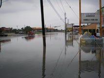 De Golf van het de Stadsstrand van Panama van moesson van de de onwerenregen van Mexico de overstromende royalty-vrije stock afbeeldingen