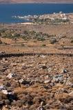 De golf van Kalloni, Lesvos Stock Foto's