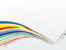 De golfachtergrond van de regenboog Stock Foto's