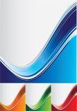 De golfachtergronden van de kleur Stock Foto's