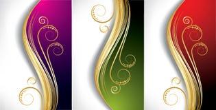 De golfachtergronden van de kleur Royalty-vrije Stock Afbeeldingen