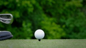 De golfgolfspelers tee stock footage