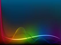 De golflijnen van de regenboog Stock Fotografie