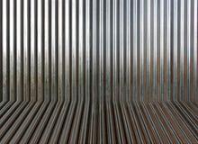 De golfoppervlakte van de metaaltextuur of galvaniseert staal stock foto's