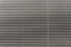 De golfoppervlakte van de metaaltextuur, Metall-muur of Metaaldak Stock Afbeelding