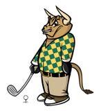 De golfspeler van de stier stock illustratie