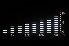 De golfvorm van de muziek Stock Afbeelding