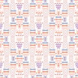 De Golfvormen van pastelkleur Lilac en Roze Abstracte Geo Stock Fotografie