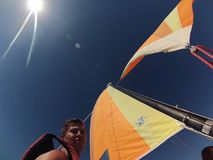 De golven en de wind stock fotografie