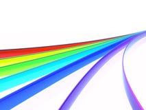 De golven van de regenboog Stock Afbeelding