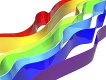 De golven van de regenboog Stock Illustratie