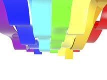 De golven van de regenboog Royalty-vrije Stock Foto's