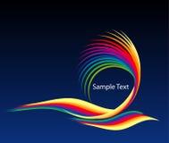 De golven van de regenboog Stock Foto