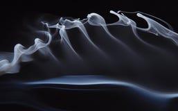 De golven van de rook stock afbeeldingen