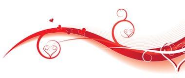 De golven van de valentijnskaart Royalty-vrije Stock Afbeelding