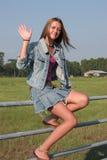 De Golven van het Meisje van het land Stock Fotografie