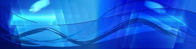 De golven van het netwerk in blauwe tonen Royalty-vrije Stock Fotografie