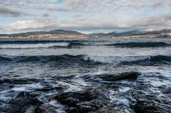 De golven van het overzees Stock Foto's