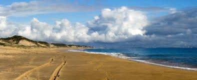 De golven van Indische Oceaan op Buffelsstrand dichtbij Bunbury Westelijk Australië Stock Afbeeldingen