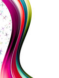 De golven van kleuren Stock Fotografie