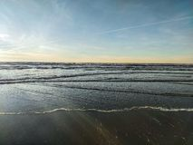 De golven van Long Beach WA royalty-vrije stock foto