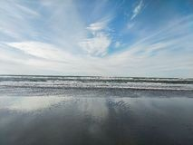 De golven van Long Beach WA royalty-vrije stock fotografie