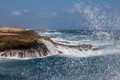 De golven van Playacanoa royalty-vrije stock foto's