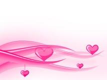 De golven van valentijnskaarten Stock Afbeelding
