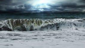 De golven van wolken Stock Foto's