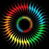 De golvencirkels van de regenboog royalty-vrije illustratie