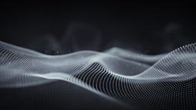 De golvende close-up die van de cyberoppervlakte met DOF teruggeven Royalty-vrije Stock Foto