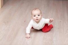 De golvende hand van de baby Stock Foto