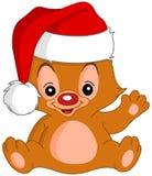 De Golvende teddybeer van Kerstmis Royalty-vrije Stock Afbeelding