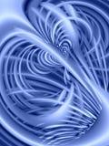 De golvende Textuur van Lijnen in Blauw royalty-vrije illustratie