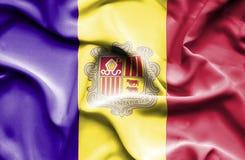 De golvende vlag van Andorra vector illustratie