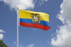 De golvende Vlag van Ecuador Stock Foto