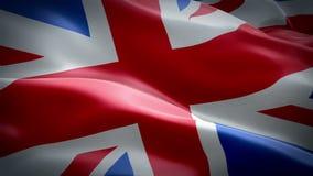 De golvende vlag van het Verenigd Koninkrijk Het nationale 3d Britse Britse vlag golven Teken van Britse Union Jack naadloze lijn stock footage