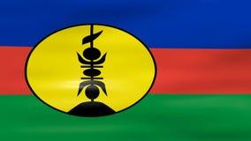 De golvende Vlag van Nieuw-Caledonië, klaar voor naadloze lijn vector illustratie