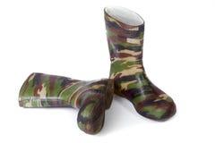 De gomlaarzen van de camouflage Royalty-vrije Stock Afbeeldingen