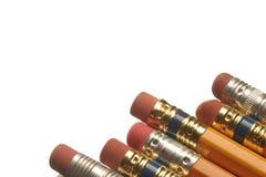 De gommen van het potlood Stock Afbeeldingen