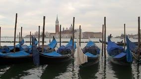De gondel van Venetië stock videobeelden