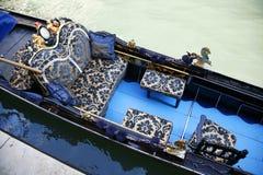 De gondel Venetië van het detail stock afbeelding