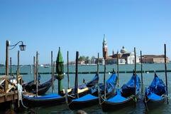 De gondels van Venetië Stock Afbeeldingen