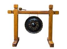 De gong van Lanna op witte achtergrond Stock Afbeeldingen