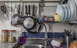 De gootsteen van de keuken Royalty-vrije Stock Foto