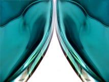 De Gordijnen van het kristal Stock Fotografie