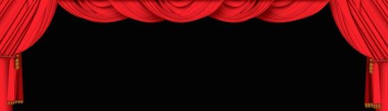 De gordijnen van het theater Stock Fotografie